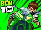 Play Ben 10 bike remix game.