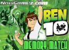 Play Ben 10 Memory Match game.
