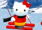 Hello Kitty Skiing