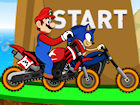 Play Mario vs Sonic Racing game.