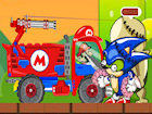 Play Mario Zombie Truck Shot game.