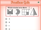 Picture Fractions Quiz