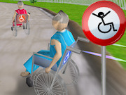 3D wheelchair racing image