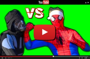 Youtube video The Amazing Spiderman vs Darth Vader - Star Wars Superhero