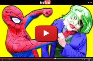 Youtube video Spiderman vs Joker In Real Life! Superhero Fun Battle Movie