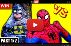 Youtube video SPIDERMAN vs BATMAN - Real Life Superhero Movie (Part 1/2)
