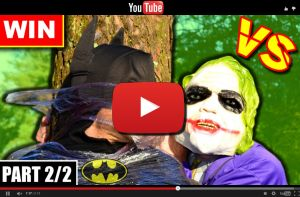 Youtube video BATMAN vs JOKER - Real Life Superhero Movie (PART 2/2)
