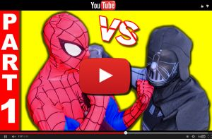 Youtube video SPIDERMAN vs DARTH VADER - Star Wars Superhero Battle